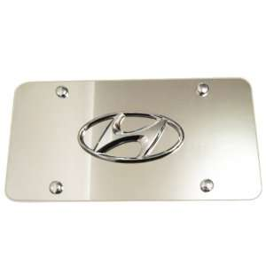 Logo Stainless Steel Mirrored Front License Plate