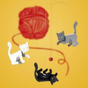 Flensted Mobiles Nursery Mobiles, Kitty Cats Baby