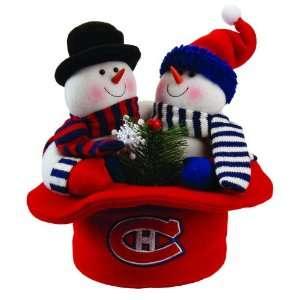 12 NHL Montreal Canadiens Plush Snowmen Top Hat Christmas