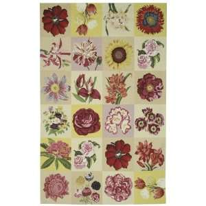 by 8 Feet 3 Inch Hand hooked Wool Area Rug, Multicolor