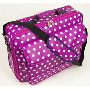 17 Purple Synthetic Leather with White Polka Dots Laptop