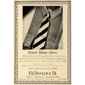 Mens Shirts Scotland Silk Neckties   Original Print Ad