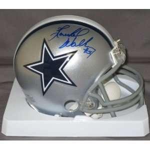 Herschel Walker Dallas Cowboys NFL Hand Signed Mini Football Helmet