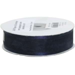 Navy Blue Sheer 7/8 thick x 25 yards Spool of Sheer Ribbon   Sold