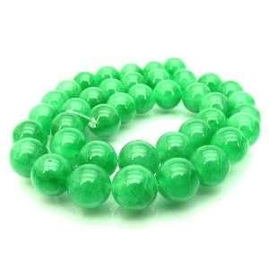 Light Green Jade 8mm Round Beads 16 Arts, Crafts