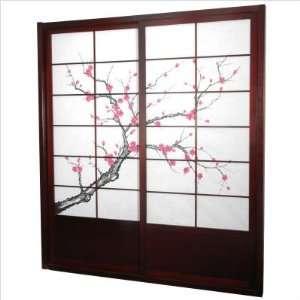 Furniture DOOR CBLSS Rosewood Cherry Blossom Shoji Sliding Door