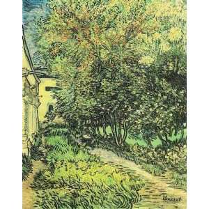 Van Gogh   24 x 30 inches   Garden of Saint Paul Hospital, T Home
