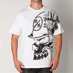 Metal Mulisha Peripheral T Shirt   Large/White Automotive