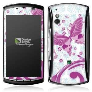 Sony Ericsson Xperia Play   Pink Butterfly Design Folie Electronics