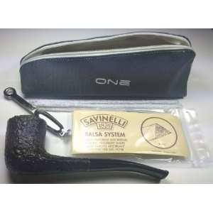 Savinelli One (404) Rustic Tobacco Pipe Starter Kit (New