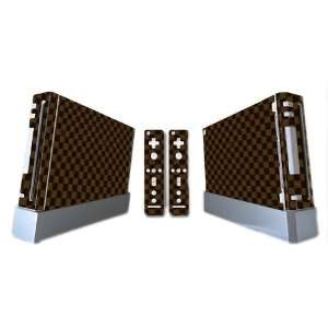 LV Style Design Wii Console + 2 Remotes Vinyl Skin Decal Cover Sticker