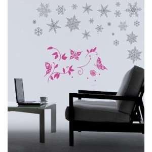 Flakes removable Vinyl Mural Art Wall Sticker Decal