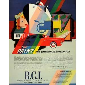 Ad Reichhold Chemical Paint Synthetic Resins Color   Original Print Ad