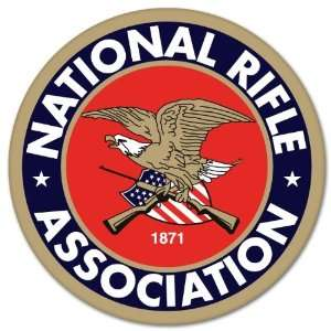 NRA Guns rifles pistol car bumper sticker 4 x 4