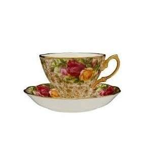 Old Country Roses Lace   Tea Cup