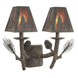 Rustic Pine Cone Wall Lamp / Sconces