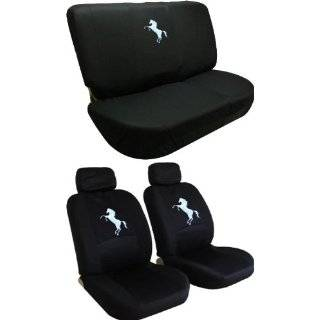 Front Low Back Seat Covers and Bench Black Seat Cover Set   Mustang