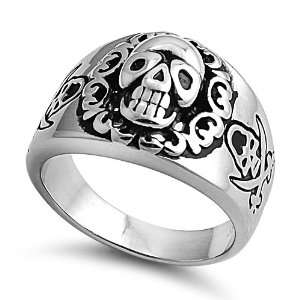 Stainless Steel Ring   Skull   Size 9 Jewelry