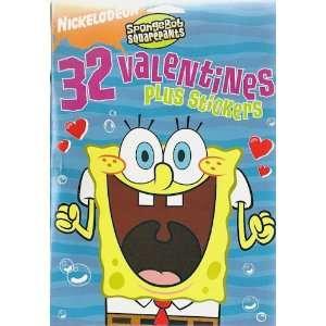SpongeBob Squarepants Valentines Day Cards 32 Count Box Toys & Games