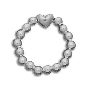 Sterling Silver Heart Bead Stretch Toe Ring Everything
