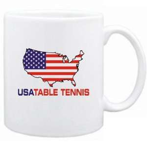 New  Usa Table Tennis / Map  Mug Sports