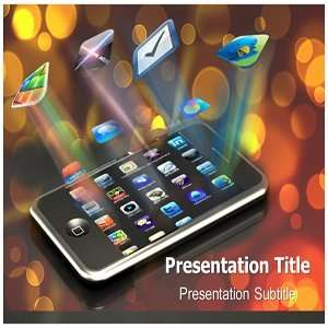 Mobile Apps PowerPoint Template   Mobile Apps Powerpoint