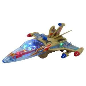 Fighter Jet Plane w/ Lights and Sound  Toys & Games