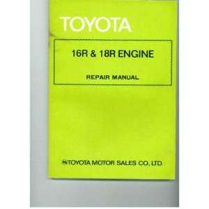 Toyota 16R & 18R Engine Unknown Books