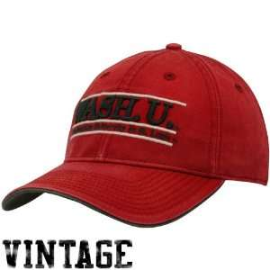 Red Sanded Bar Vintage Adjustable Hat