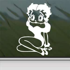 Betty Boop White Sticker Sexy Car Laptop Vinyl Window White