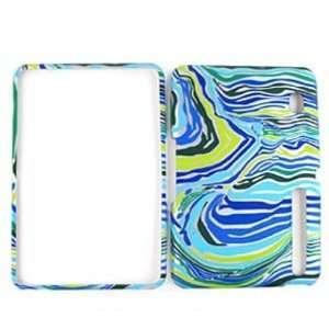 Motorola XOOM Blue/Green Zebra Print Hard Case/Cover