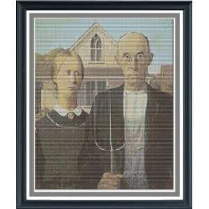 American Gothic Counted Cross Stitch Pattern