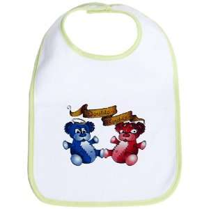 Baby Bib Kiwi Double Trouble Bears Angel and Devil