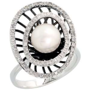 Gold Oval shaped Diamond Ring, w/ 0.26 Carat Brilliant Cut Diamonds