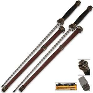 Damascus Jian 2 Piece Sword Set