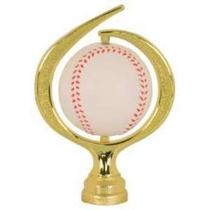 Gold 6 Spinning Soft   Baseball Trophy Figure Trophy