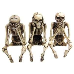Skeleton Computer Toppers See Speak Hear No Evil