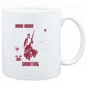 Mug White  HARD WORK Shooting  Sports Sports & Outdoors