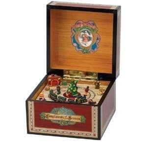 Mr Christmas Gold Label Mini Vintage Music Box Train