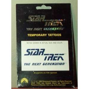 Star Trek the Next Generation Logo Temporary Tattoos: Toys