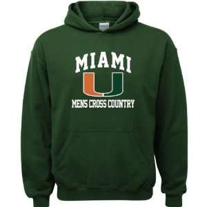 Miami Hurricanes Fores Green Youh Mens Cross Counry Arch Hooded