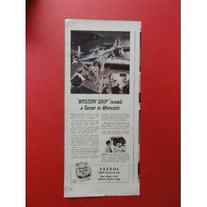 Armys mystery ship.) Orinigal Magazine Print Art.