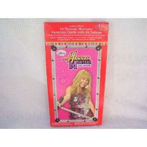 Hannah Montana the Movie 34 Valentine Cards + Tattoos
