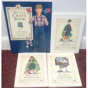 American Girl ~ MOLLY ~ Set of 4 Books (Meet, Learns a Lesson, Suprise