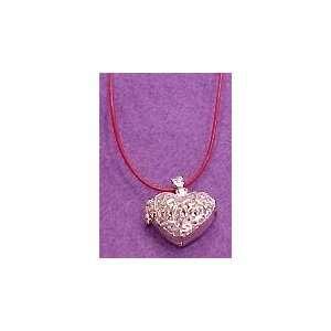 Aromatherapy Heart Locket Necklace