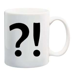 INTERROBANG Mug Coffee Cup 11 oz ~ ?