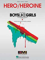 Hero/Heroine sheet music by Boys Like Girls  Sheet Music Plus