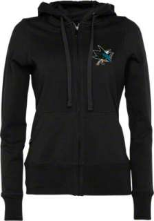 San Jose Sharks Womens Black Signature Full Zip Hooded Sweatshirt