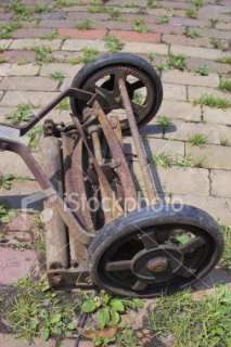 vintage lawn mower Royalty Free Stock Photo