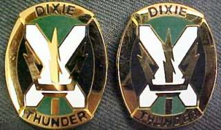155th Armor Brigade Distinctive Unit Insignia DIXIE THUNDER